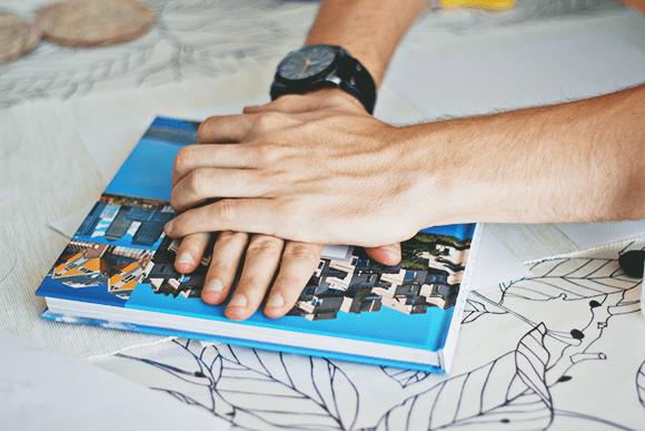 DIY kaart onderleggers