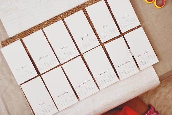 DIY kalender 2015