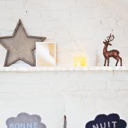 5x winterse shelf styling