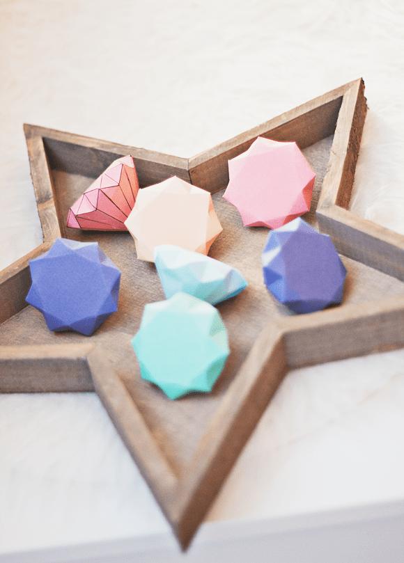 DIY diamanten van papier