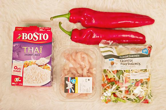 Recept wok met puntpaprika en chilisaus (1 van 20)