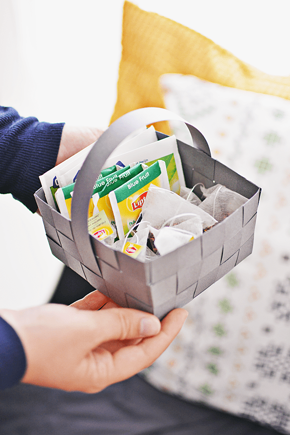 DIY gevlochten mandje van papier
