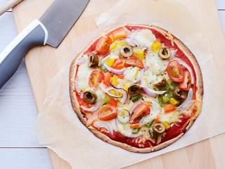 Heerlijke vegetarische wrap pizza's