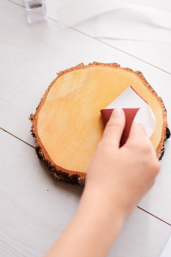 Een herfstige foto printen op hout