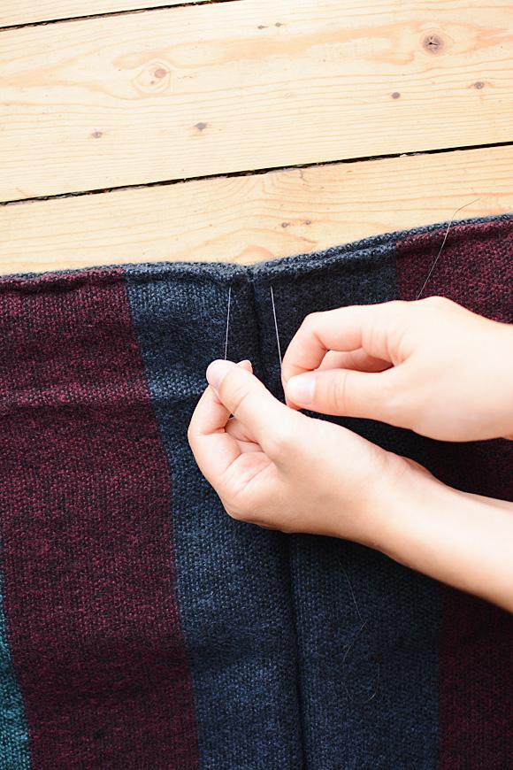 Maak van je sjaal een winterse kimonovest