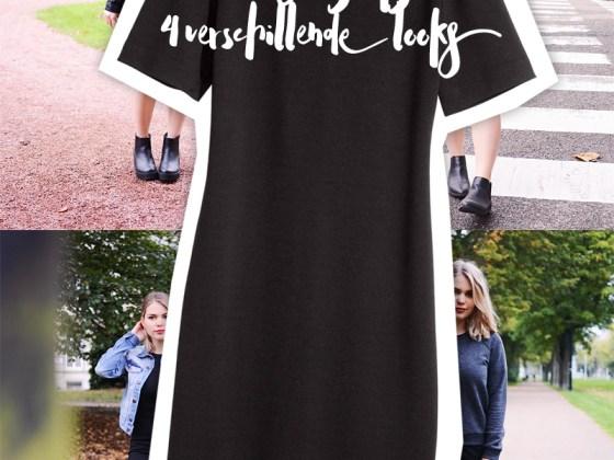 1 zwarte jurk, 4 verschillende looks