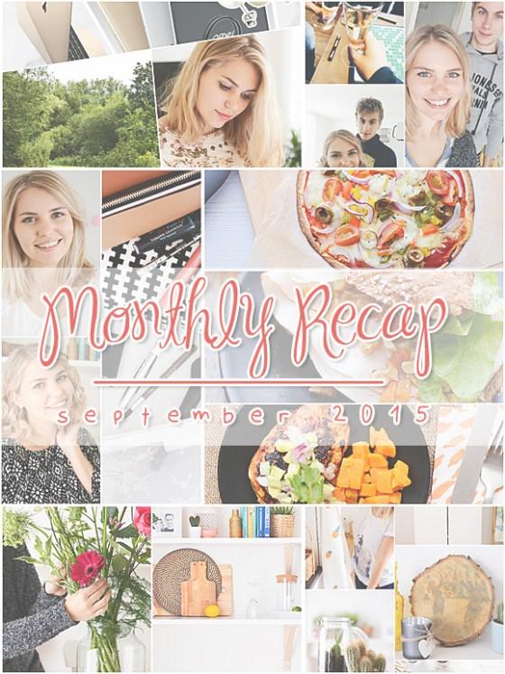 Monthly Recap - september 2015