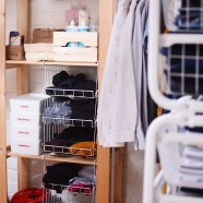 Onze walk-in-closet voor en na