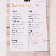 Freebie: emoji maaltijdplanner!