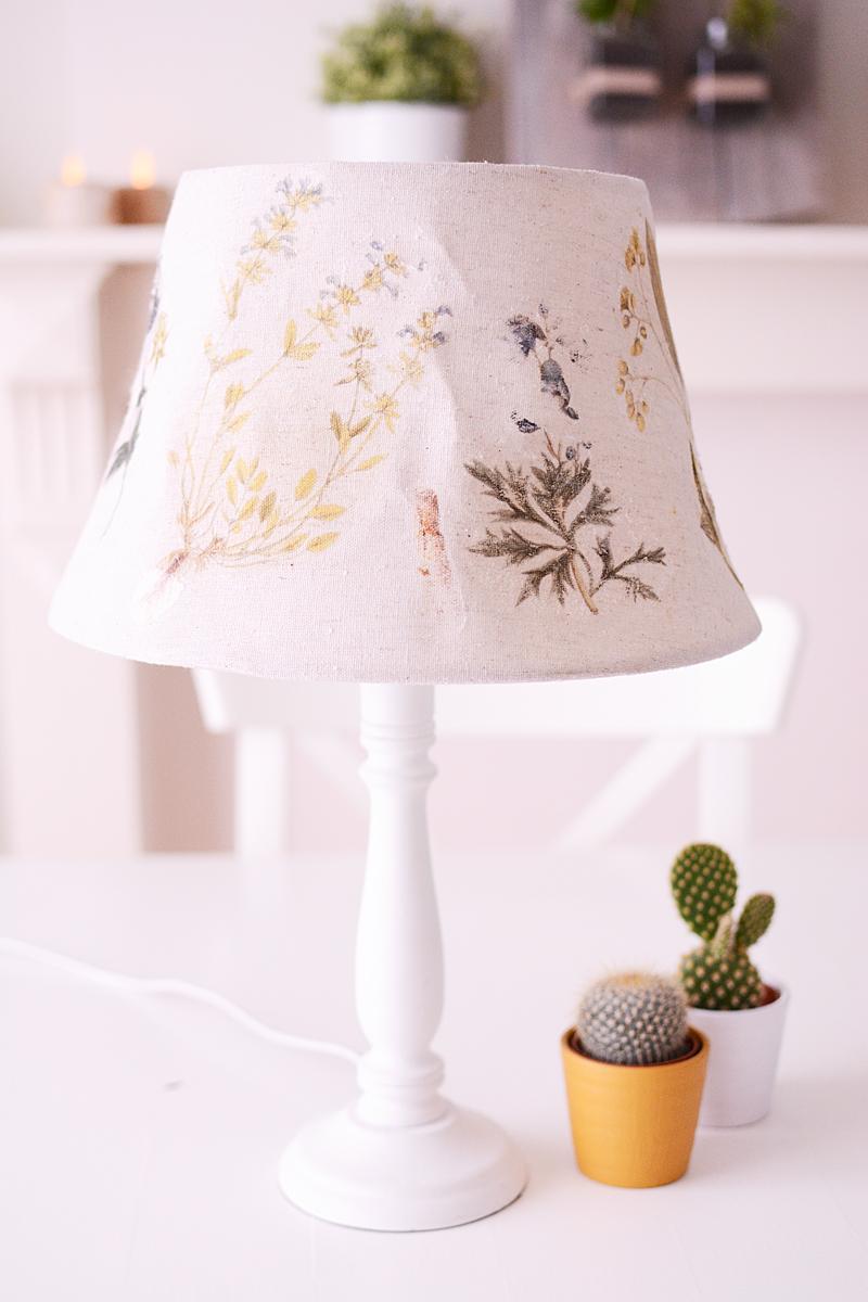 En toen smolt mijn lampenkap (DIY botanische print)