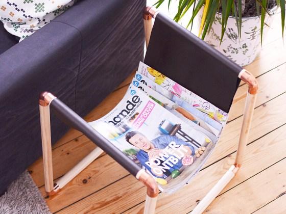 Maak zelf een tijdschriftenrek
