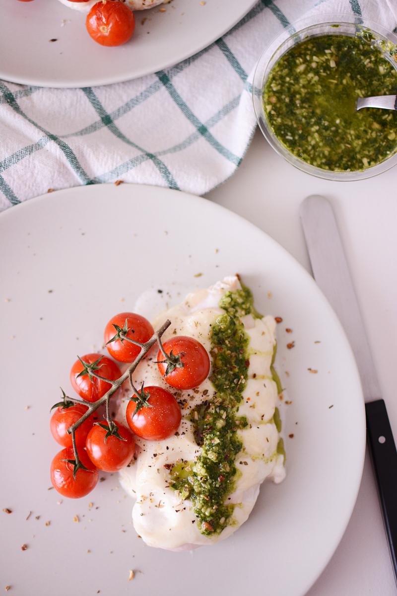 Hasselback Italiaanse kip