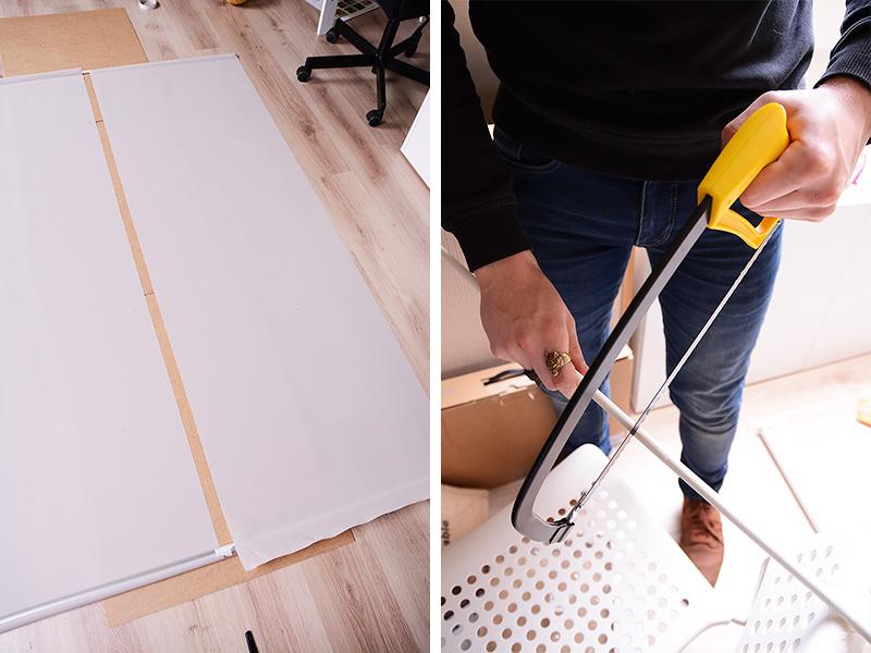 DIY: zelf een rolgordijn versmallen