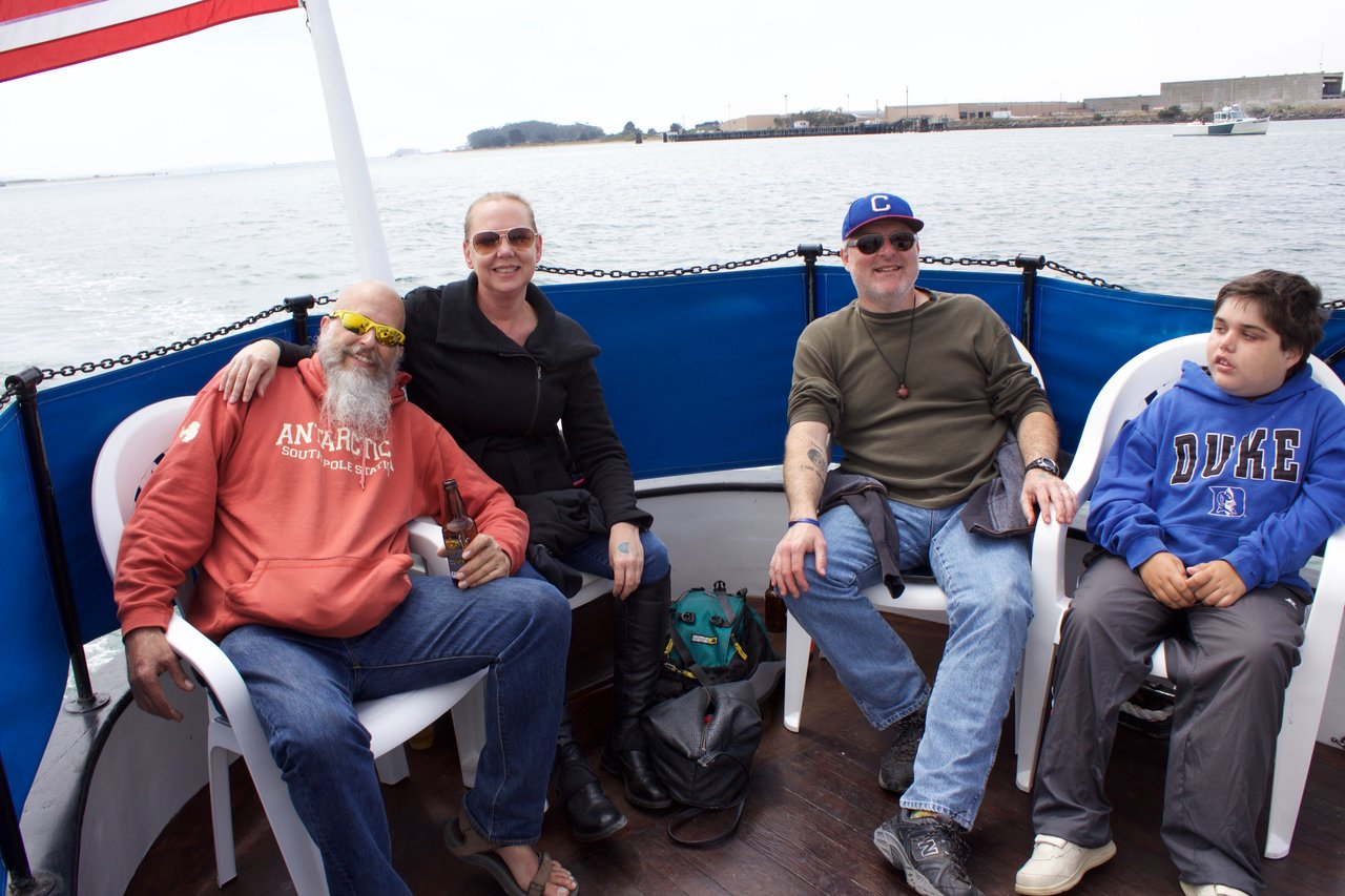 Will, Clay, Jack, and I on the boat.