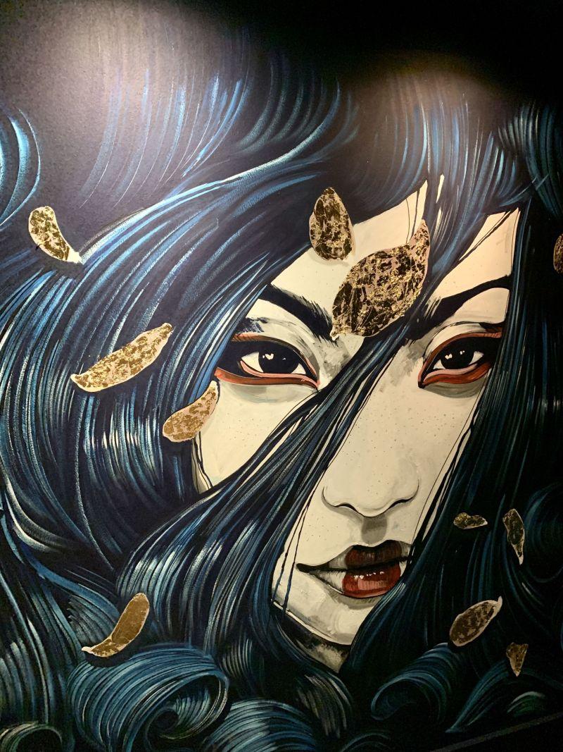 Japanese murals Blossom Room Milton Keynes