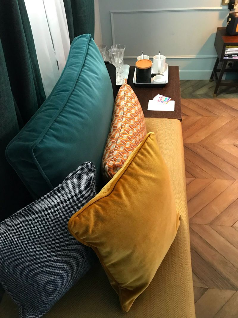 Hoxton Hotel Paris Colourful cusions & interiors