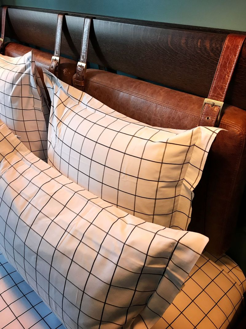 Hoxton Hotel Paris Leather strap bed