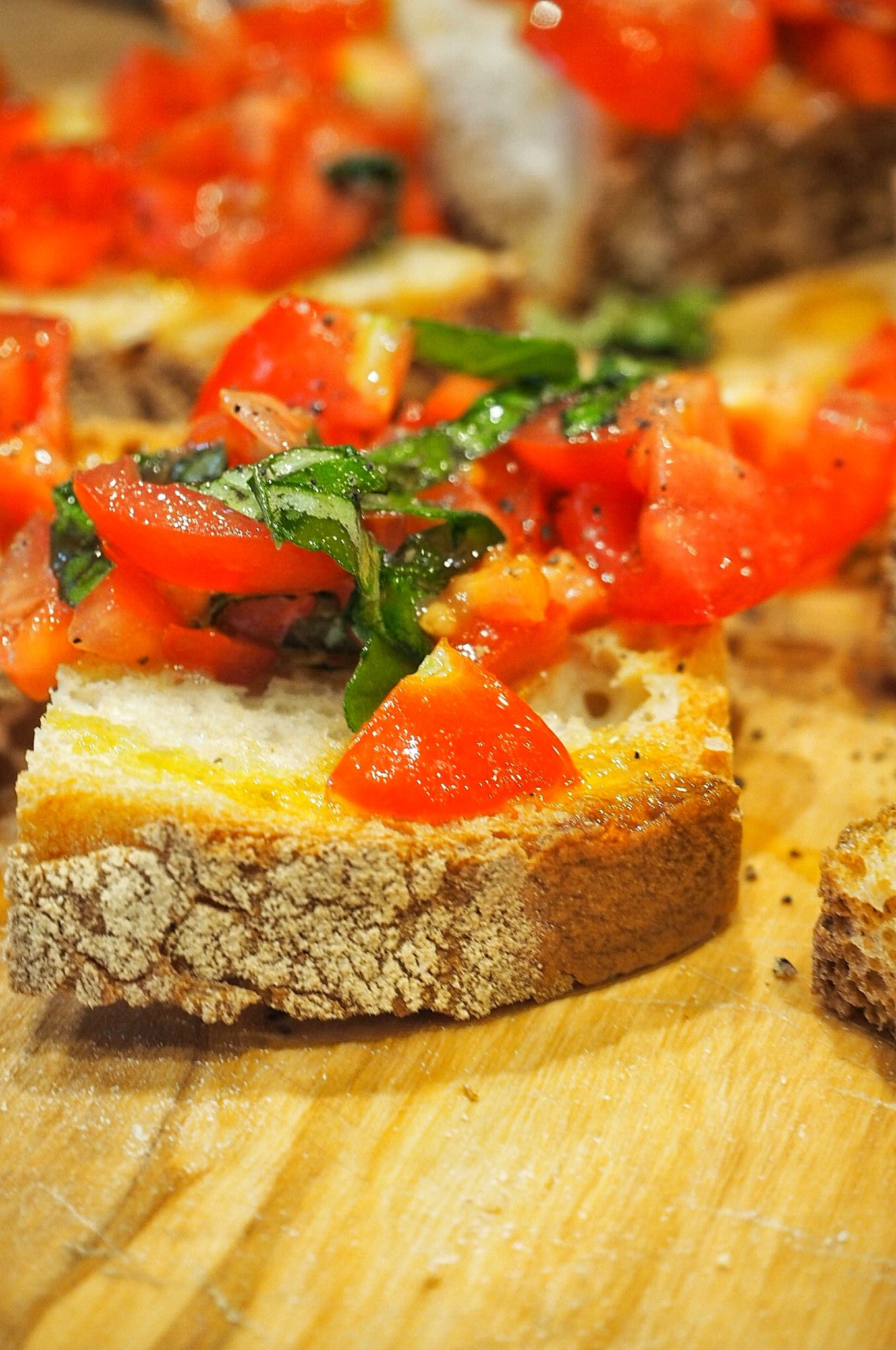 Italian tomato bruschetta antipasti