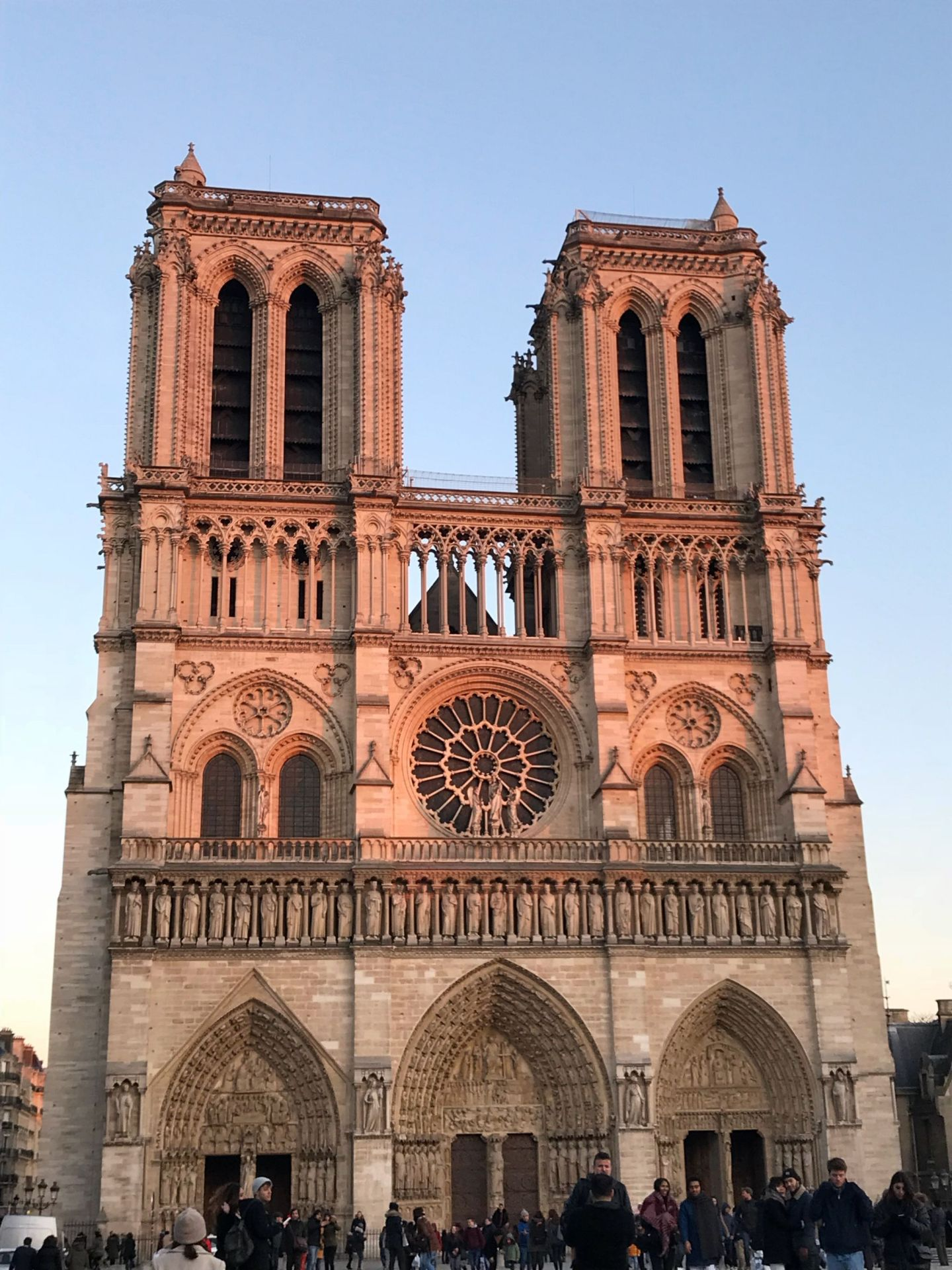 Sunset on Notre Dame Paris