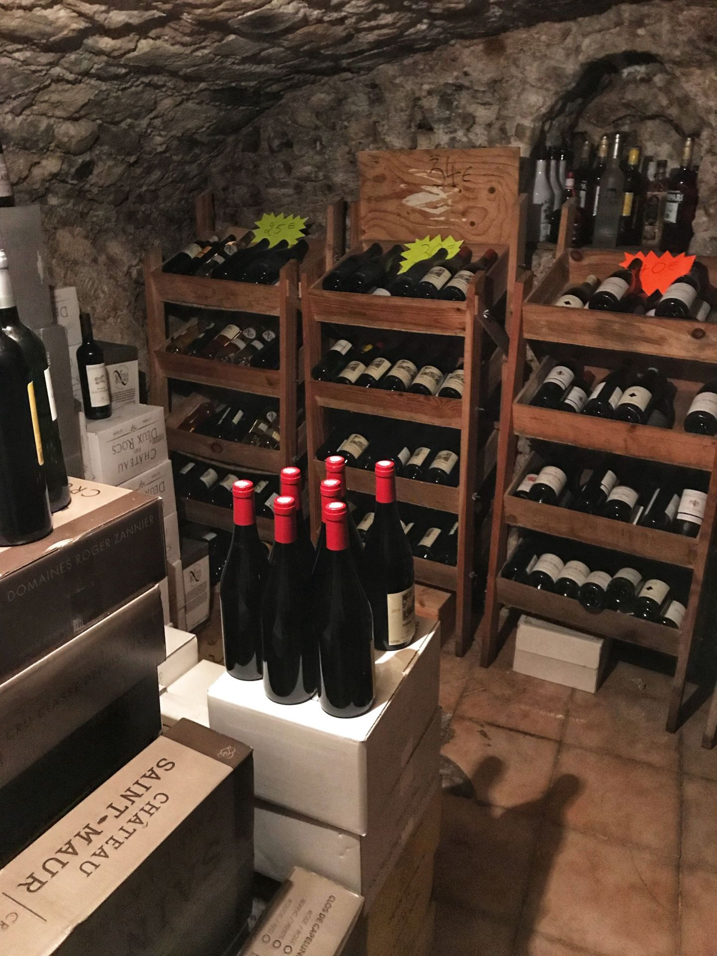 Wine Cellar at Au Vieux Paris D'Arcole