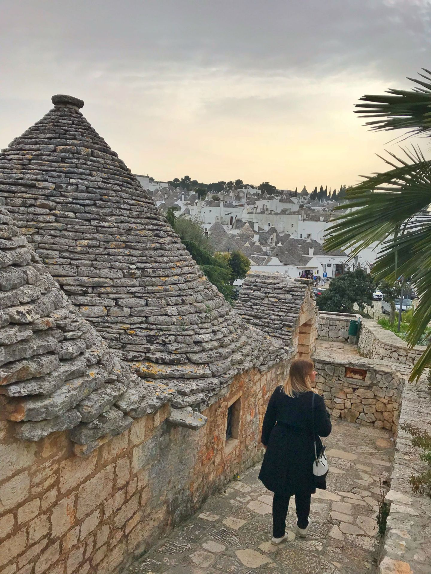 Exploring stone walkways and Trullo houses in Alberobello