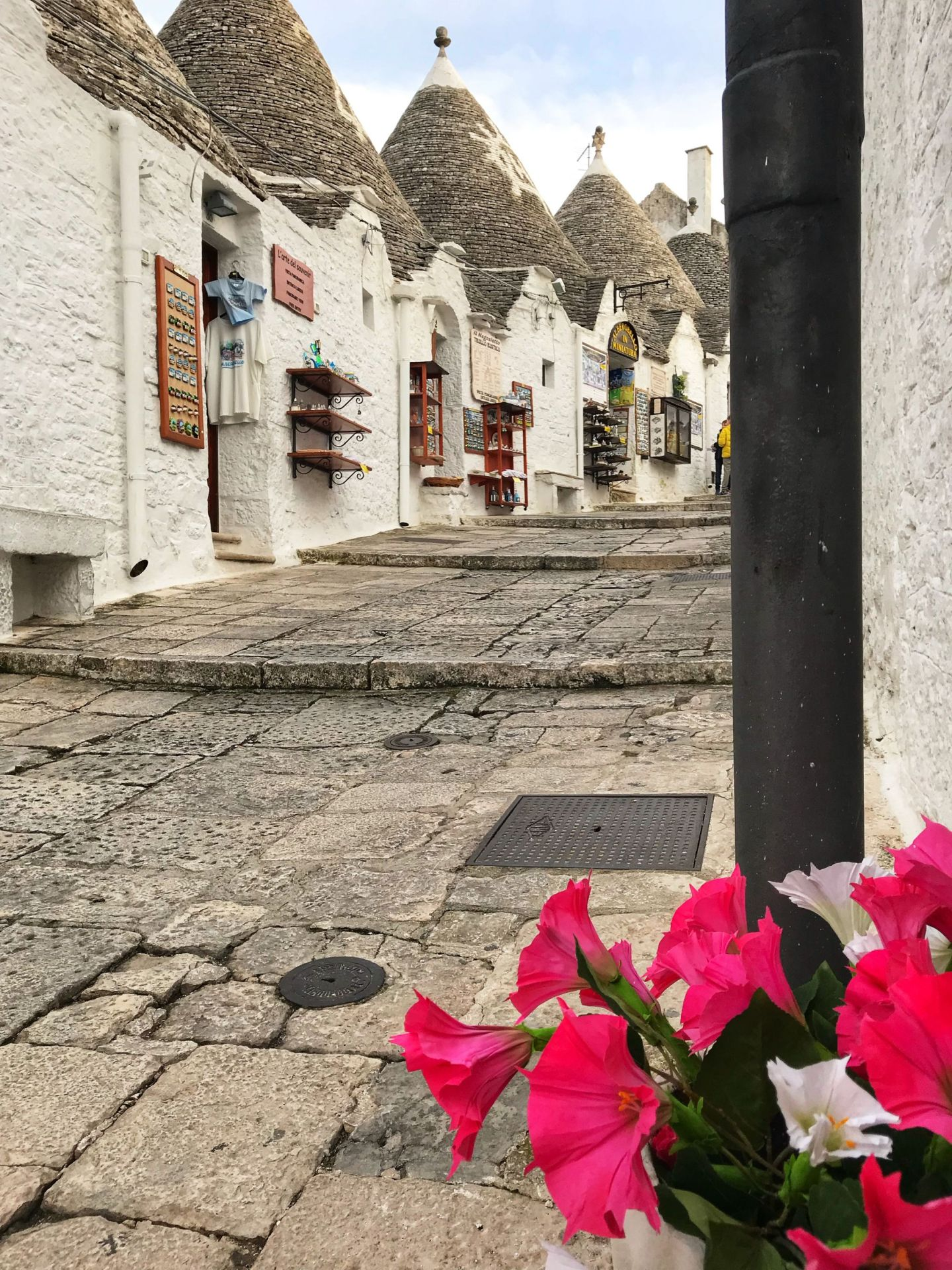 Exploring the scenic streets of Alberobello