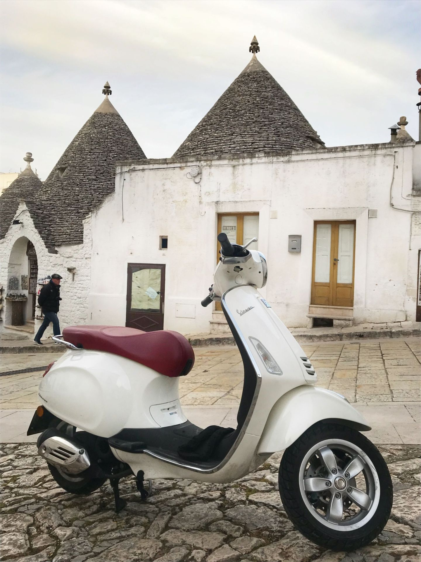 Scooter in Locorotondo Southern Italy