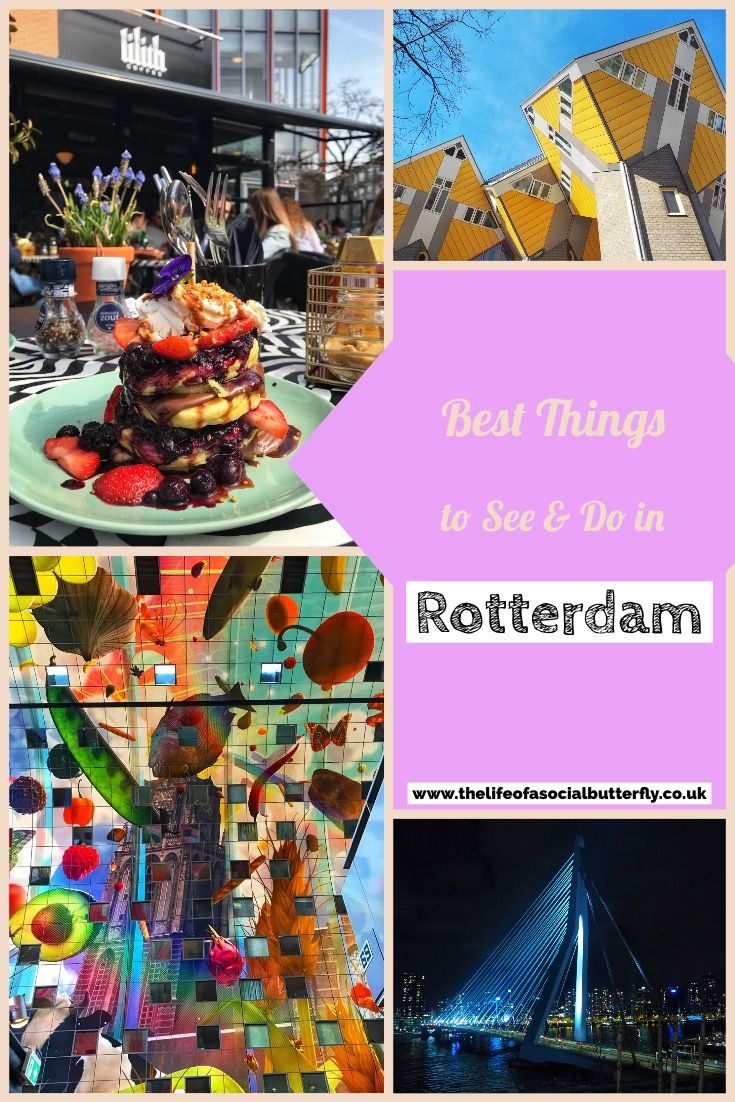 Rotterdam-Netherlands. Looking for things to do in The Netherlands second city? Rotterdam is city of cube houses, cute brunch spots & street food markets! Click through to read my 24 hours in Rotterdam post, for your Rotterdam one day guide of things to do in Rotterdam for a day trip! #Rotterdam #rotterdamnetherlands #rotterdamarchitecture #rotterdamhotspots #rotterdamthingstodo