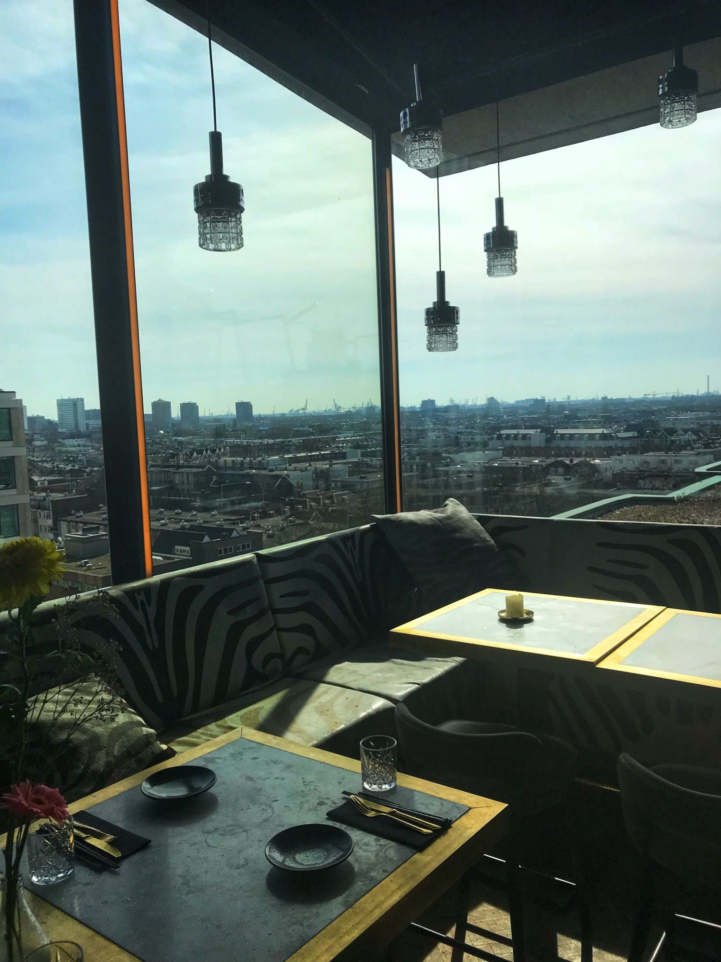 Sunny Skyline views from Suicide Club Rotterdam