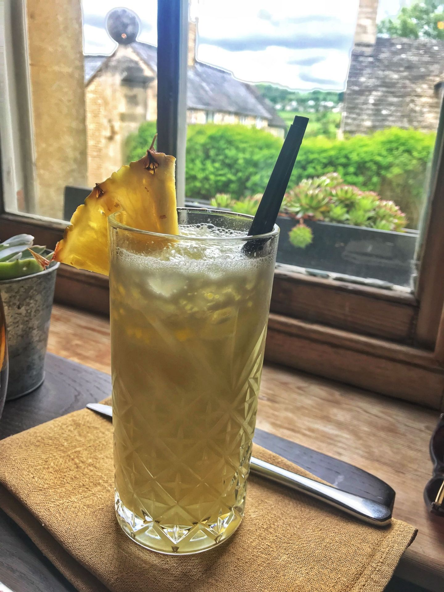 Cocktails with a view at The Painswick Cotswolds