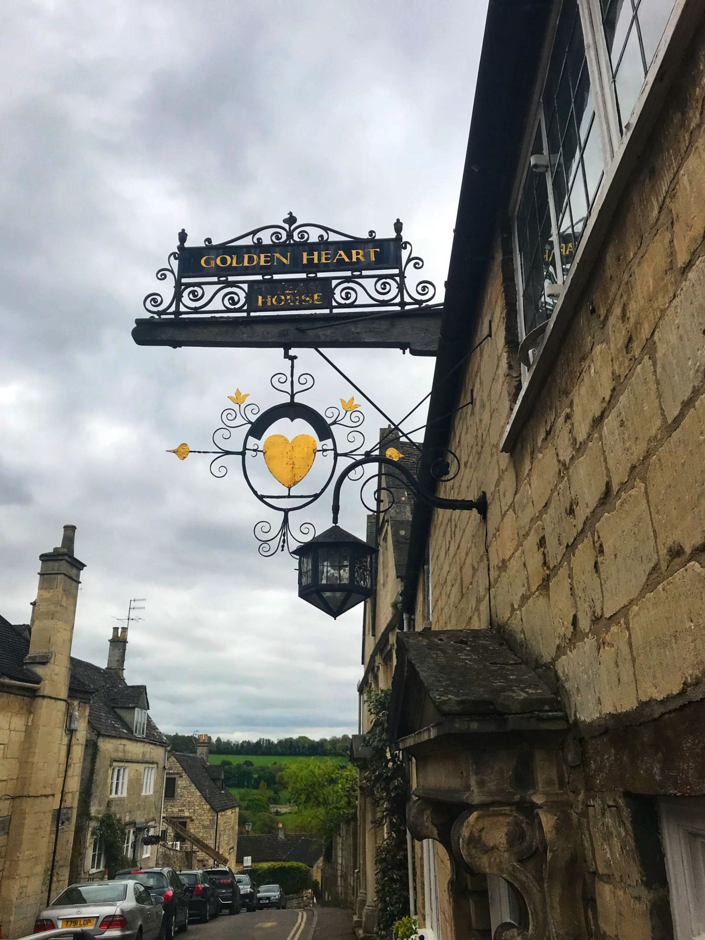 Golden Heart Sign Painswick Cotswolds