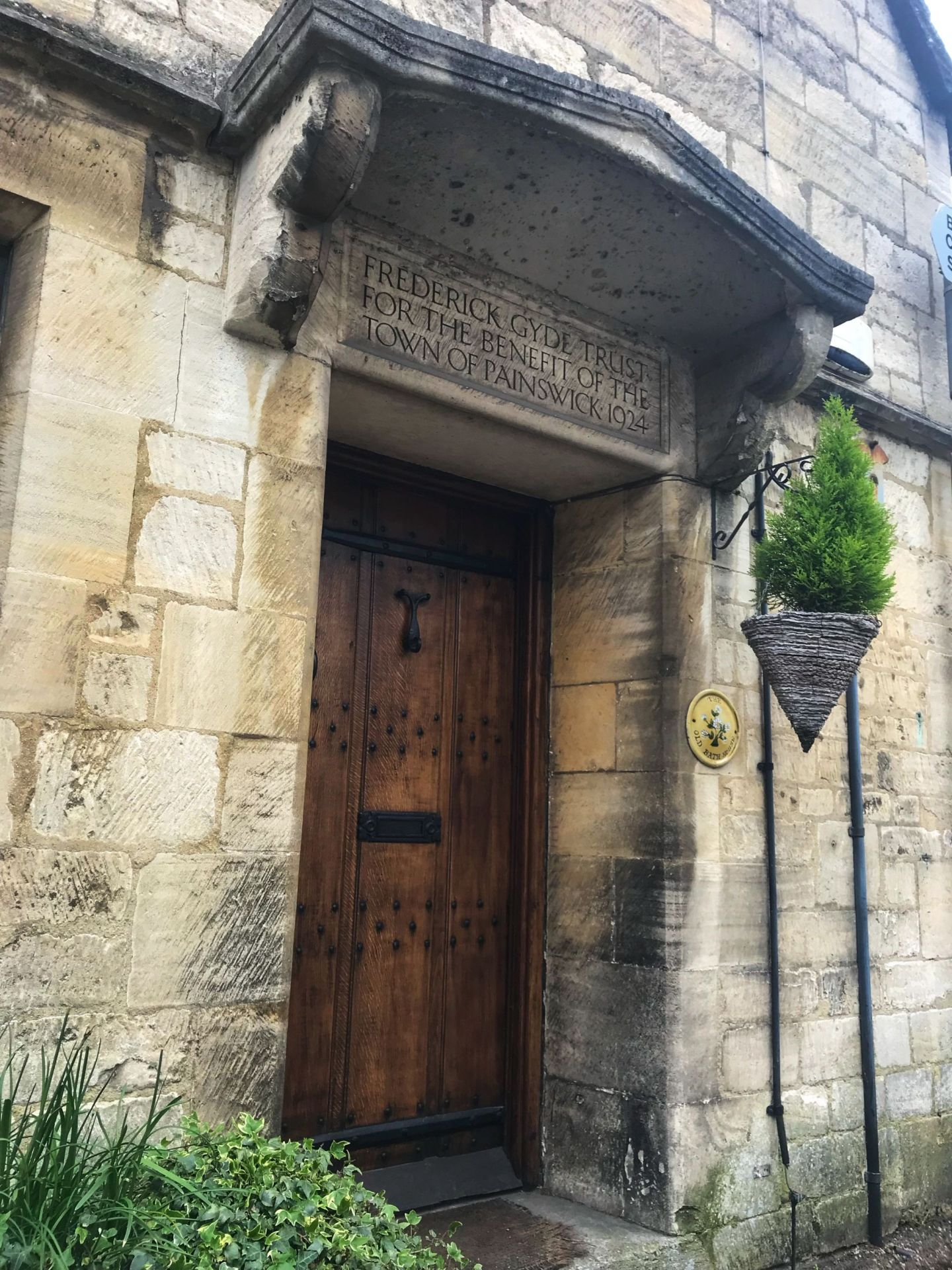 Old age buildings & pretty doorways Painswick Cotswolds