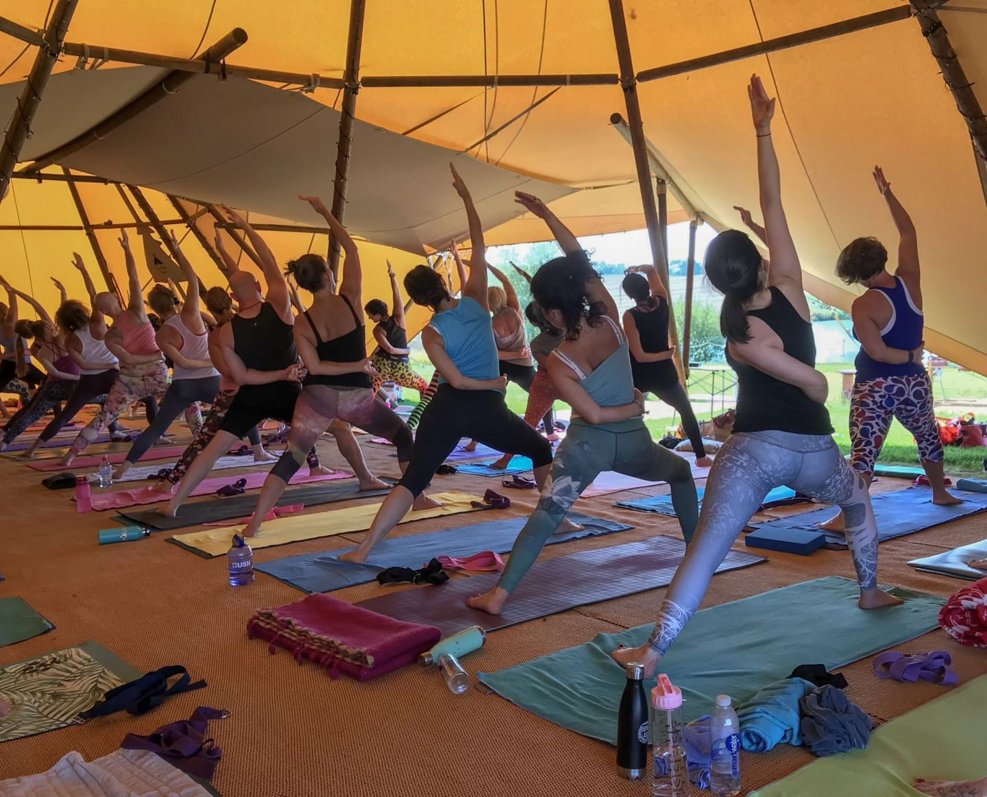stretch and flex at the summer yoga festival