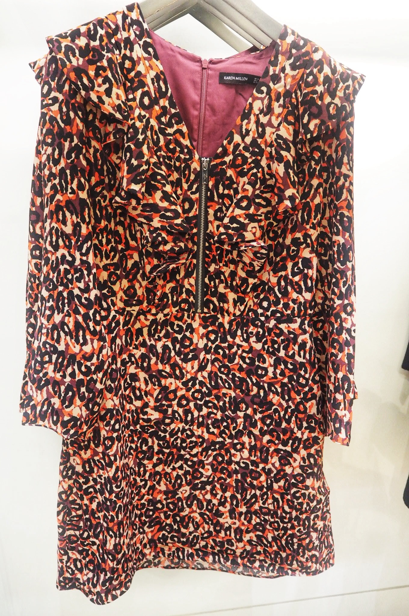 Karen Millen Leopard Print Mini Dress