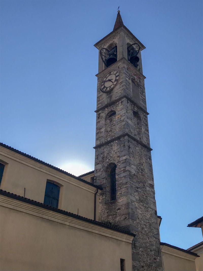 Picturesque Santi Filippo E Giacomo Bell Tower Loveno Mombello