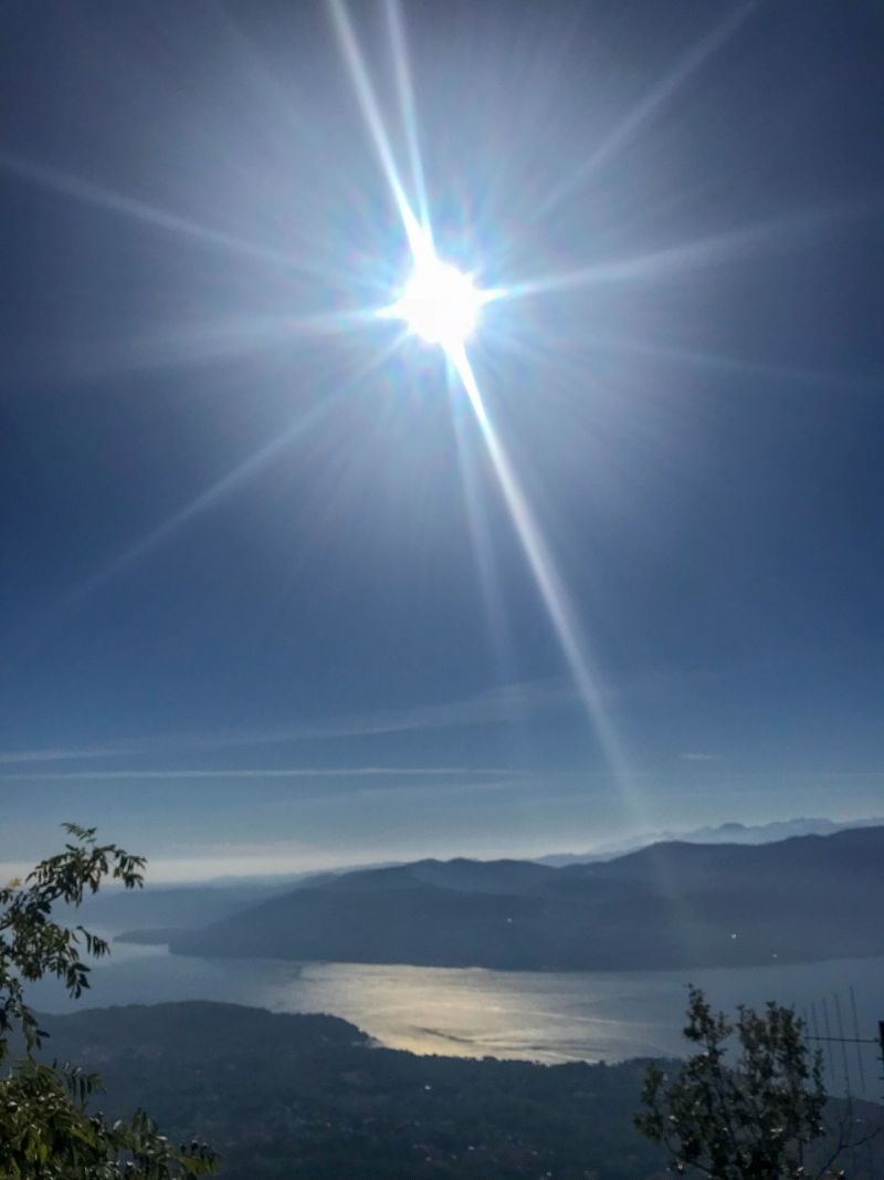 Sparkling sunshine views over Lake Maggiore in the Italian Riviera