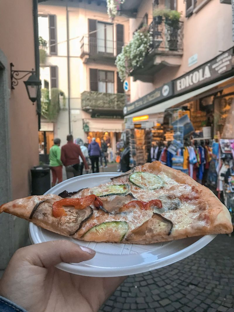 Thin crust Italian Pizza in Stresa