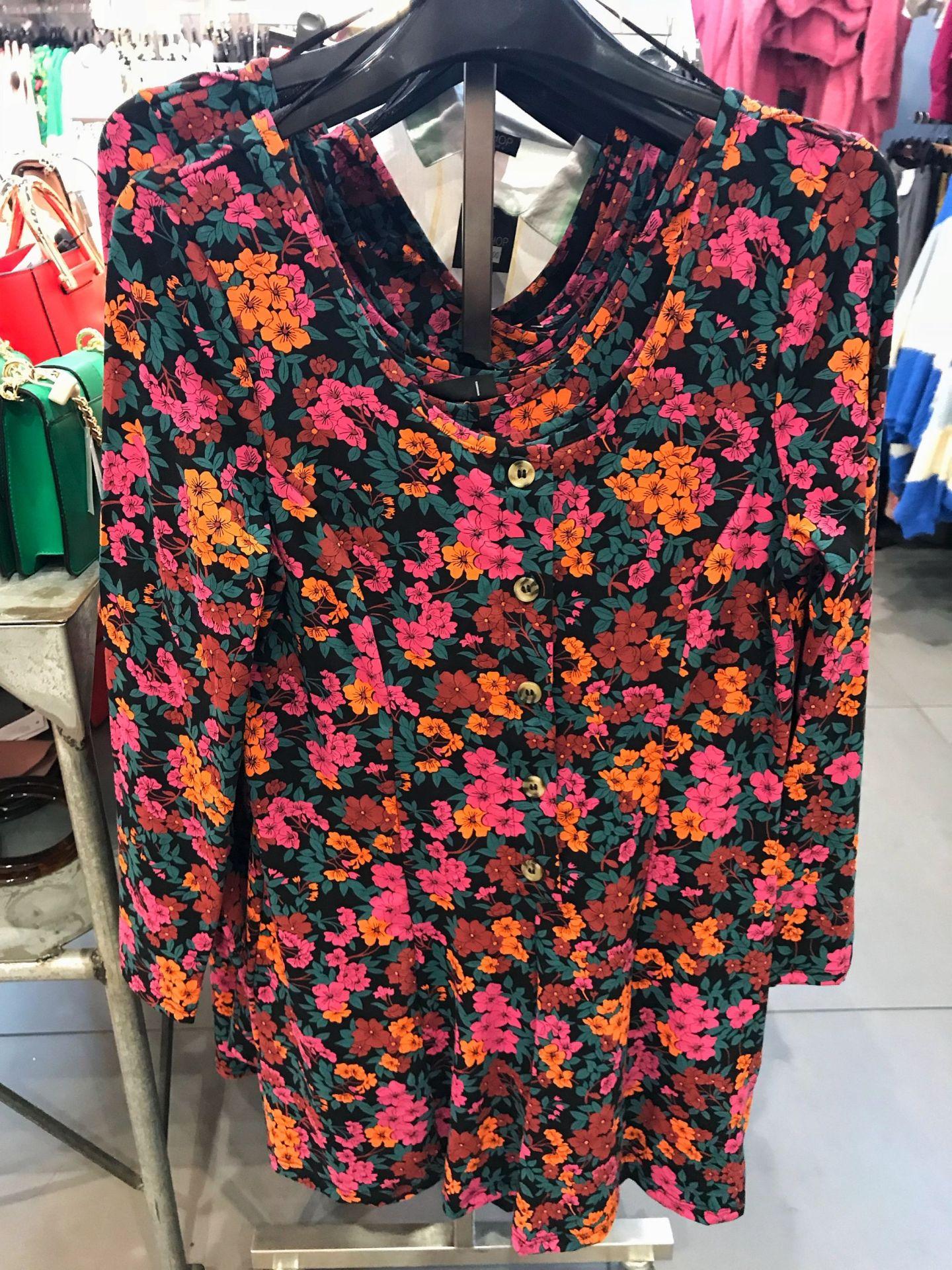 Topshop Bright Floral Colour pop dress