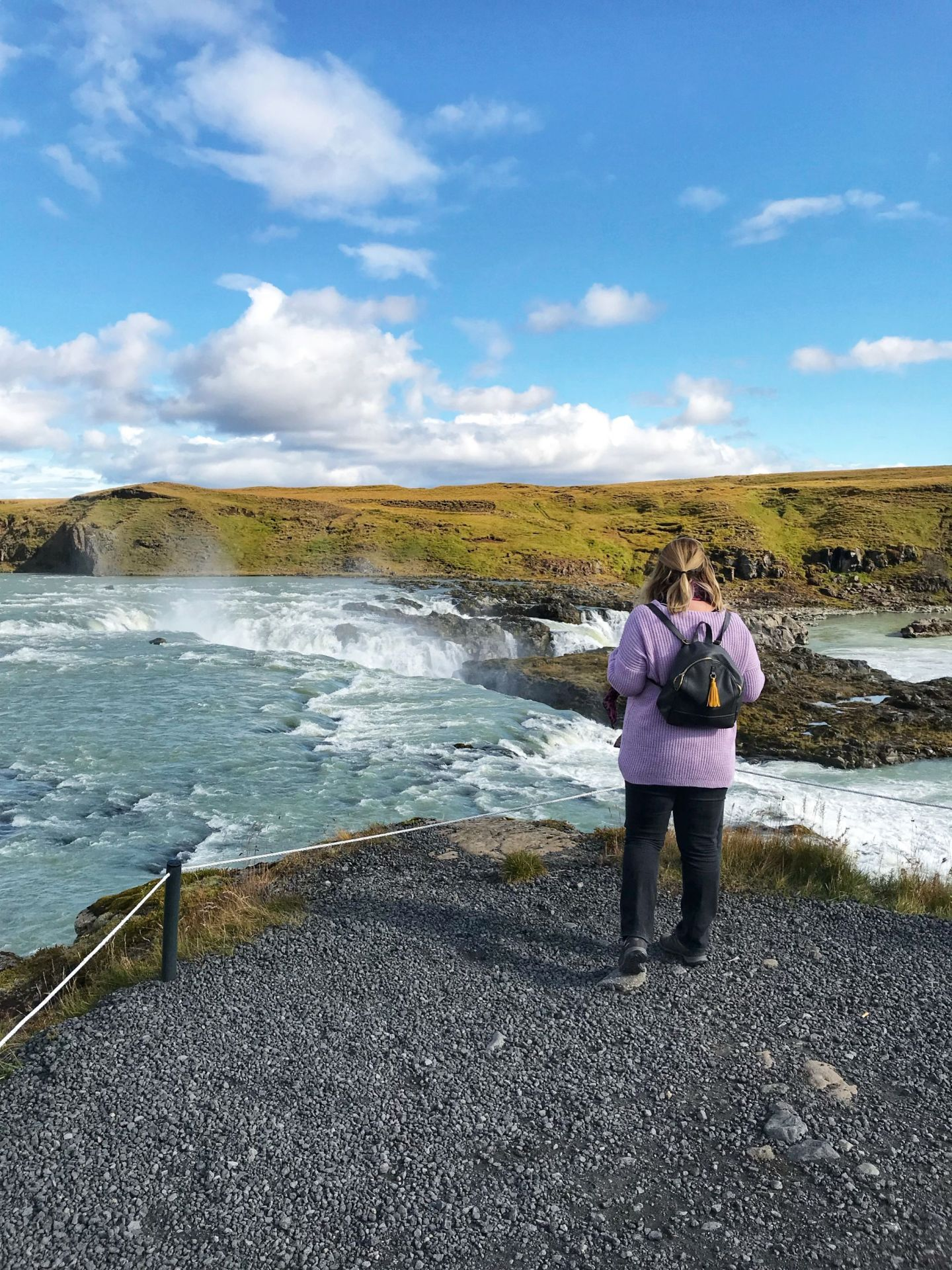 Admiring the beauty of Iceland in Autumn