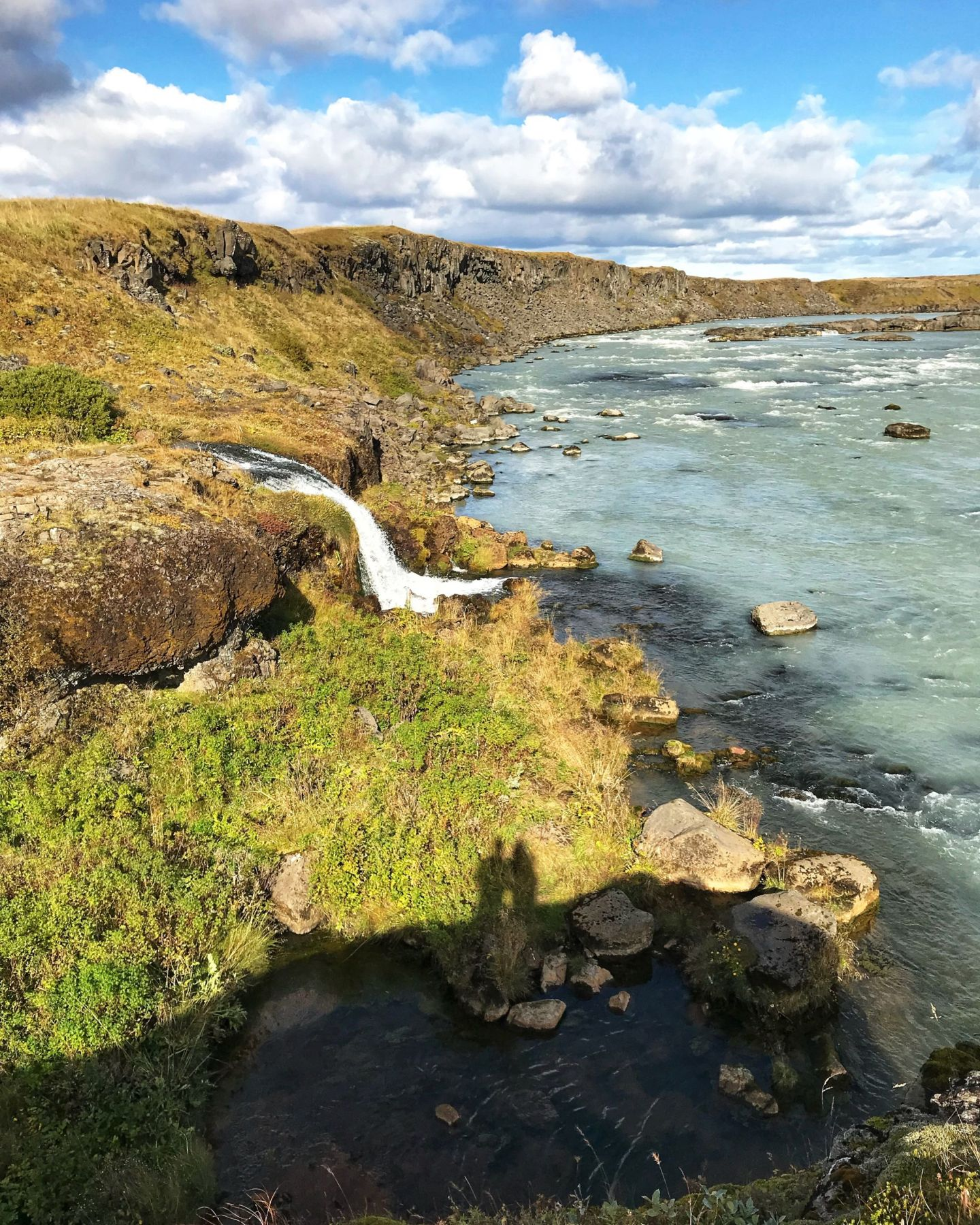 Urriðafoss falls lesser-know waterfalls in Iceland