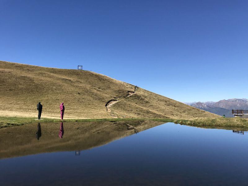 Lake mountain views from Mounte Tamaro Switzerland