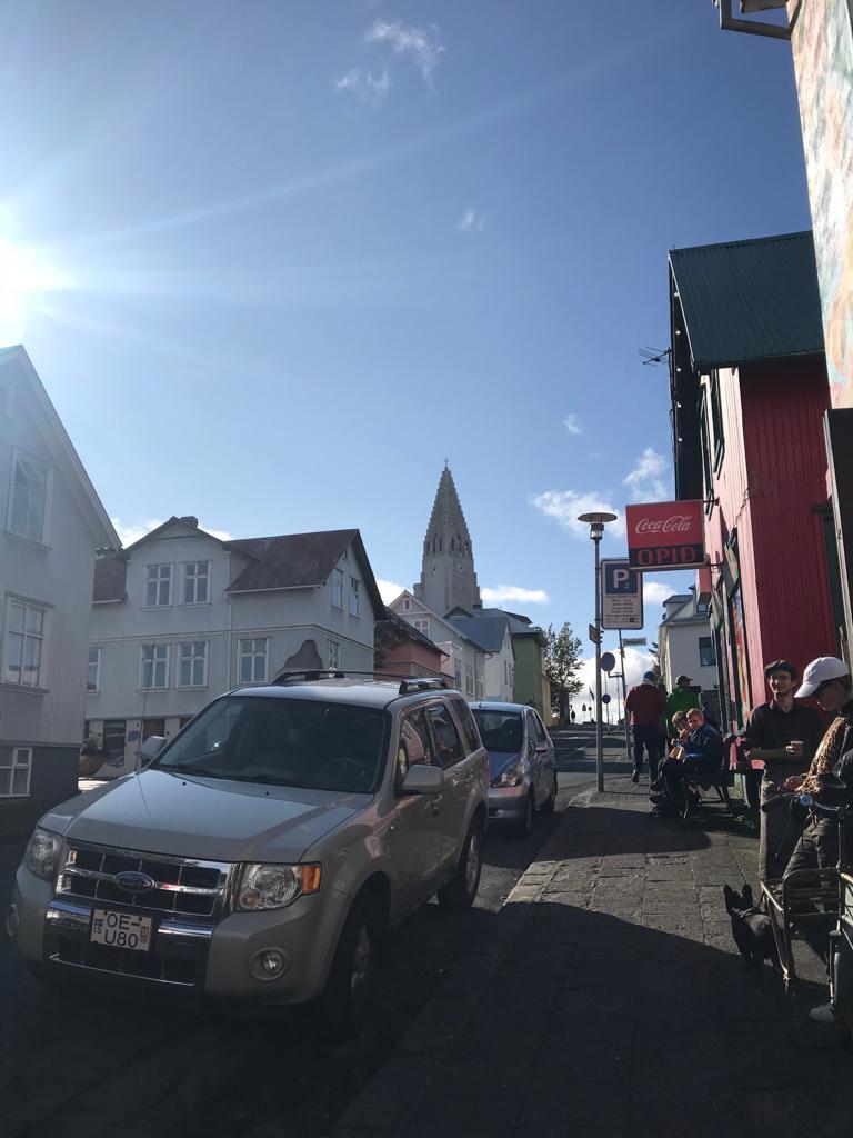 Parking in Reykjavik Iceland