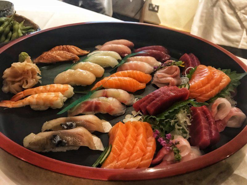 Japanese Sushi Platter at Hokkaido Winter Event