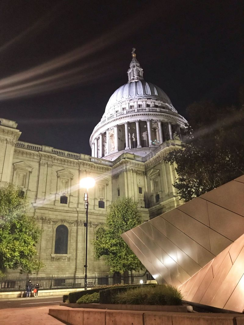 Picturesque night views St Paul's London