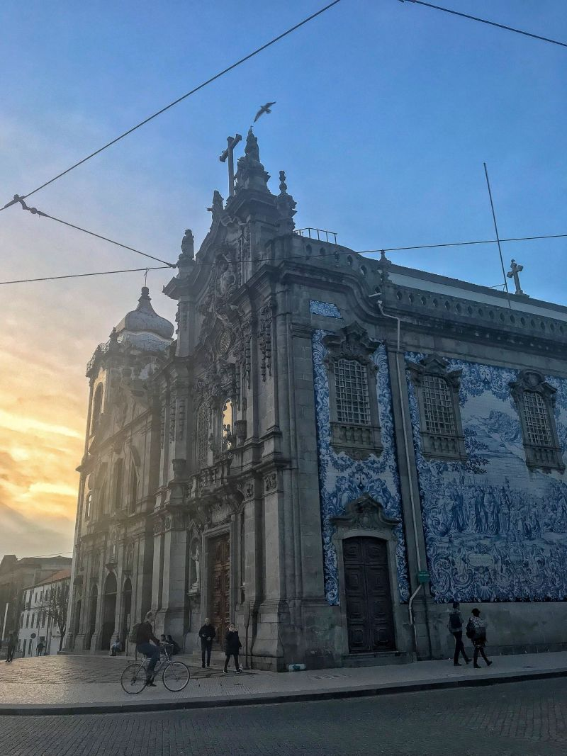 Sunset Carmo Church Most Instagrammable places in Porto