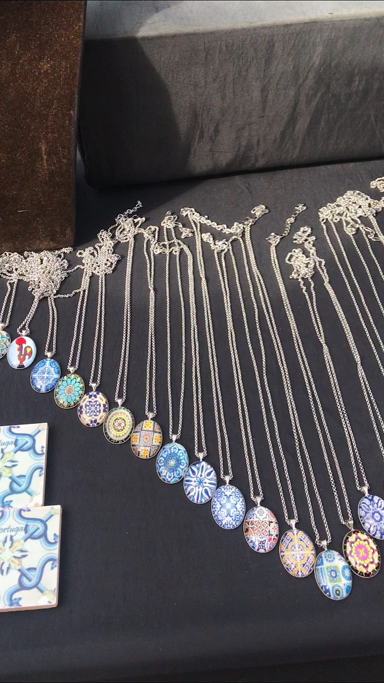 Beautiful traditional tiled necklaces Porto