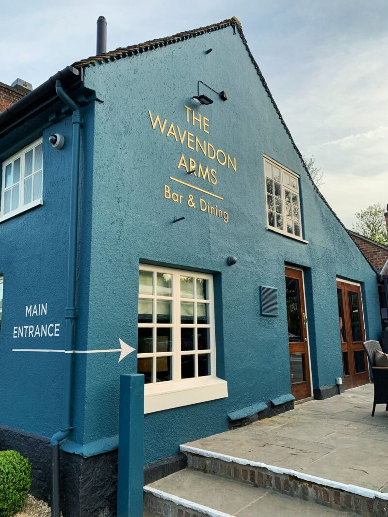 New-look Wavendon Arms Teal Exterior