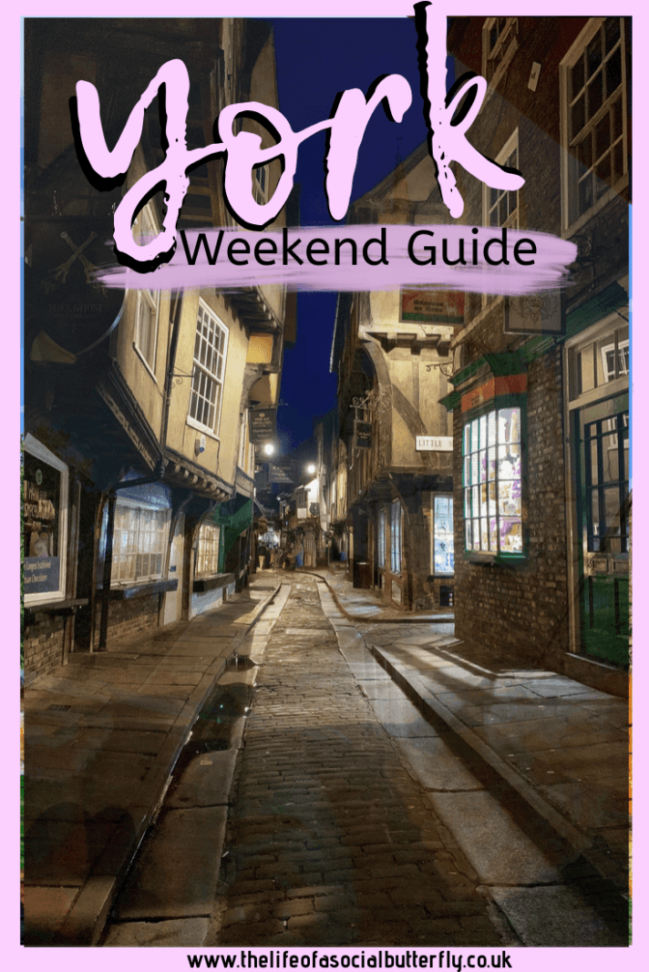 Planning a weekend getaway to York, England? This post gives you all the travel tips for exploring the vibrant city of York, from Harry Potter sites, quirky cocktail bars to York's historic attractions. Look no further for your ultimate weekend in York guide! Find out how to do a day trip from London to York, where to stay, where to eat and what to do on your visit to York! #York #UK #harrypotter #weekendinYork #Yorkitinerary #shambles