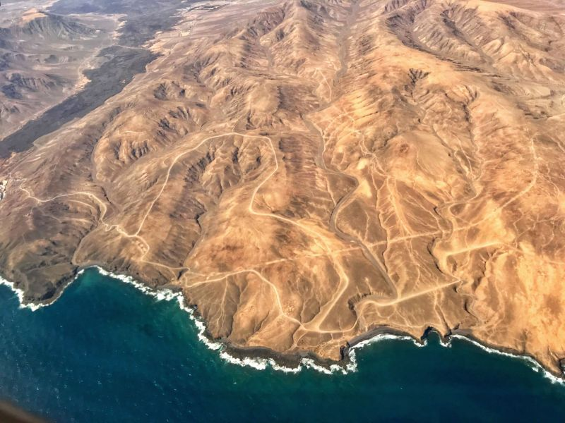 Overhead-view-of-Canary-Islands-dramatic-landscape