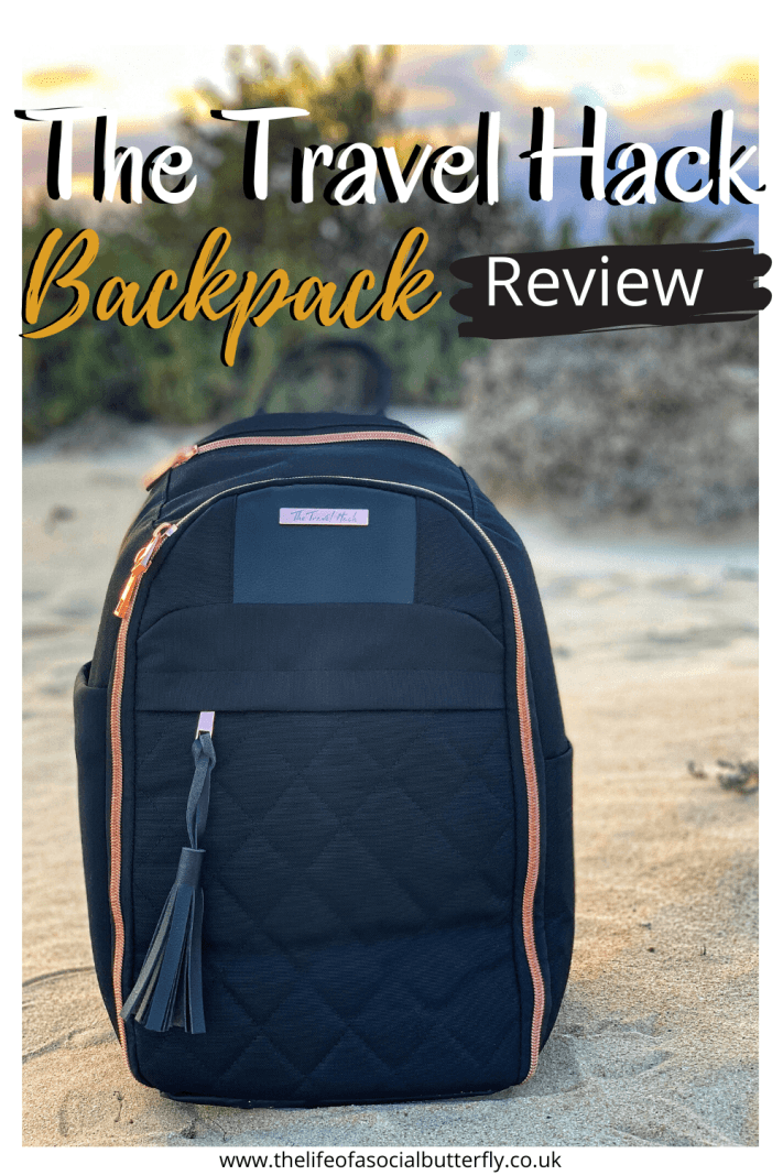 Looking for cute carry on luggage that you can use as an underseat carry on for your next flight? It's so hard to find a small carry on bag that looks stylish and can fit all your essential items for airplane carry on, without having to pay extra luggage fees! The Travel Hack Backpack is the perfect carry on bag as it fits under your seat on a flight & is a trendy everyday bag! Your search is over for a new personal carry on bag, click through to read about the features! #travelbagcarryon